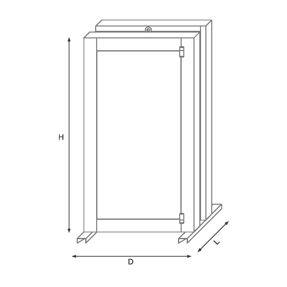 درب خزانه 200VKR راستگرد رمز مکانیکی