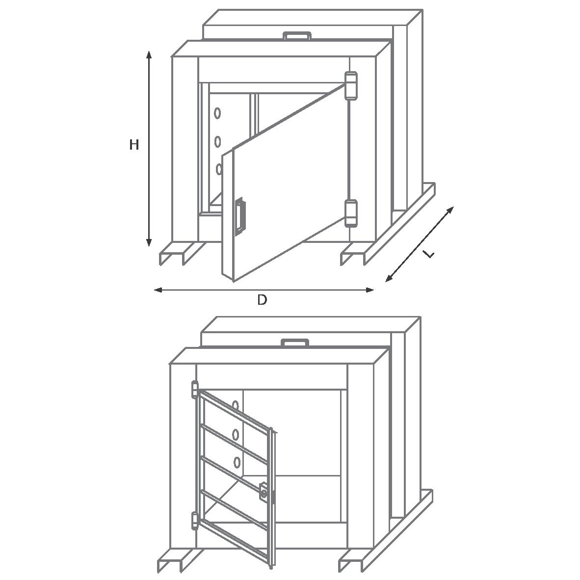 درب فرار50EDR رمز مکانیکی